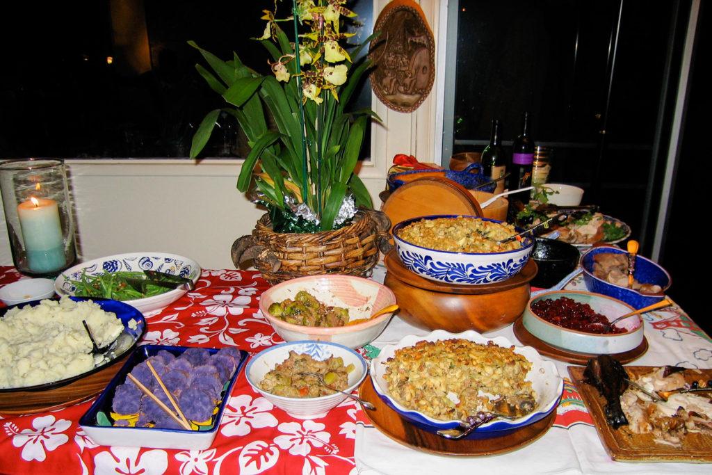 ハワイの家庭のサンクスギビング料理(2004年)