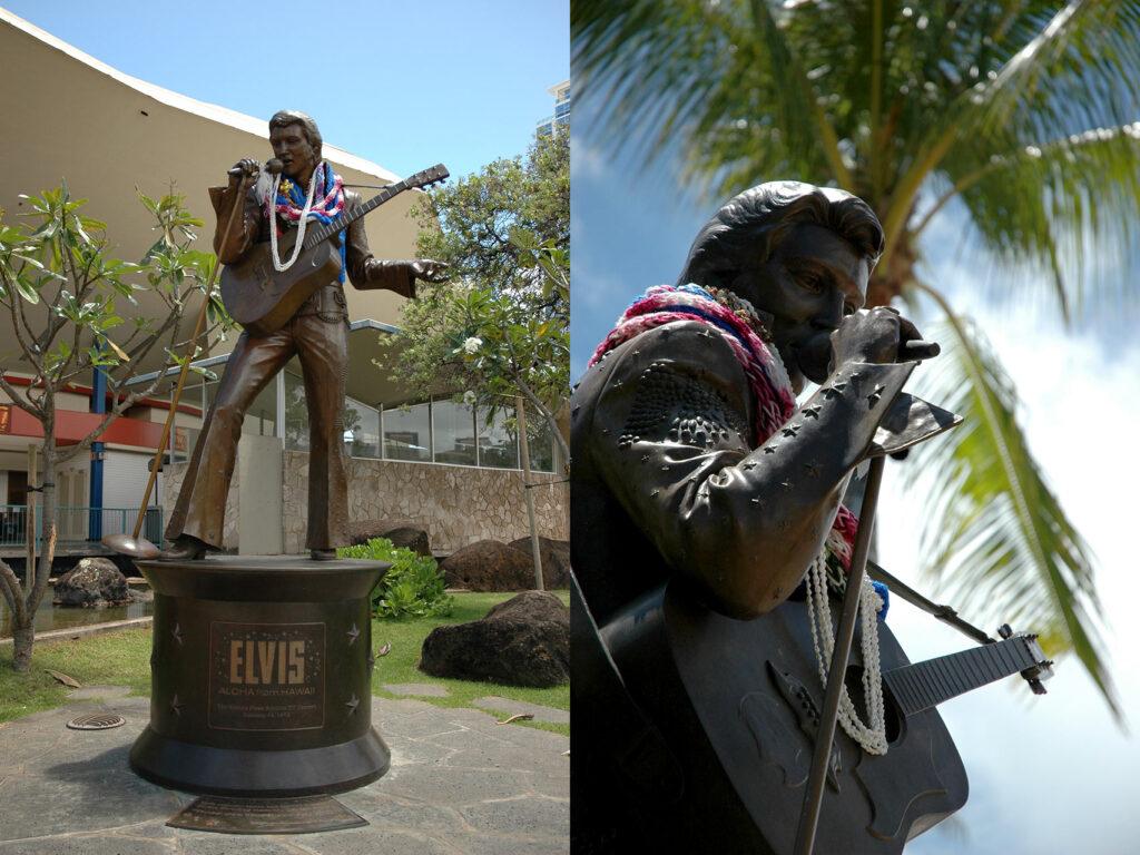 エルヴィス・プレスリーの等身大銅像