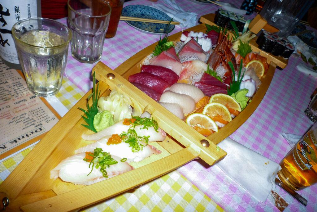 舟盛りのお寿司