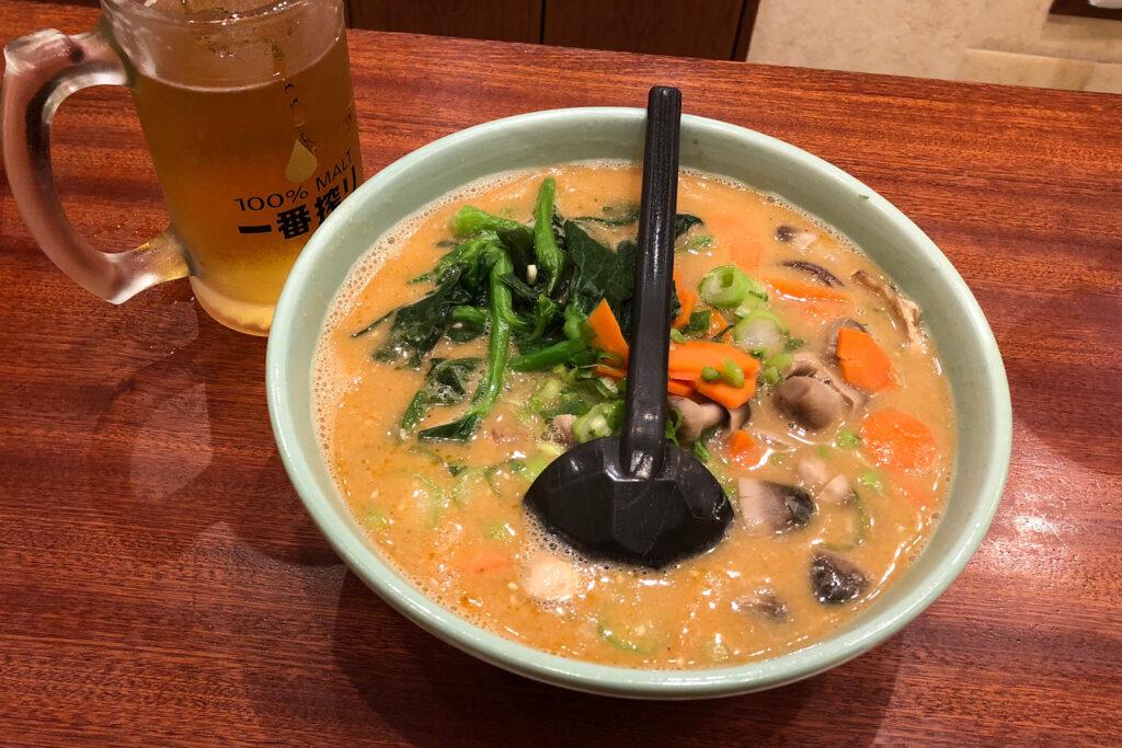 ごま亭のベジタブル坦々麺