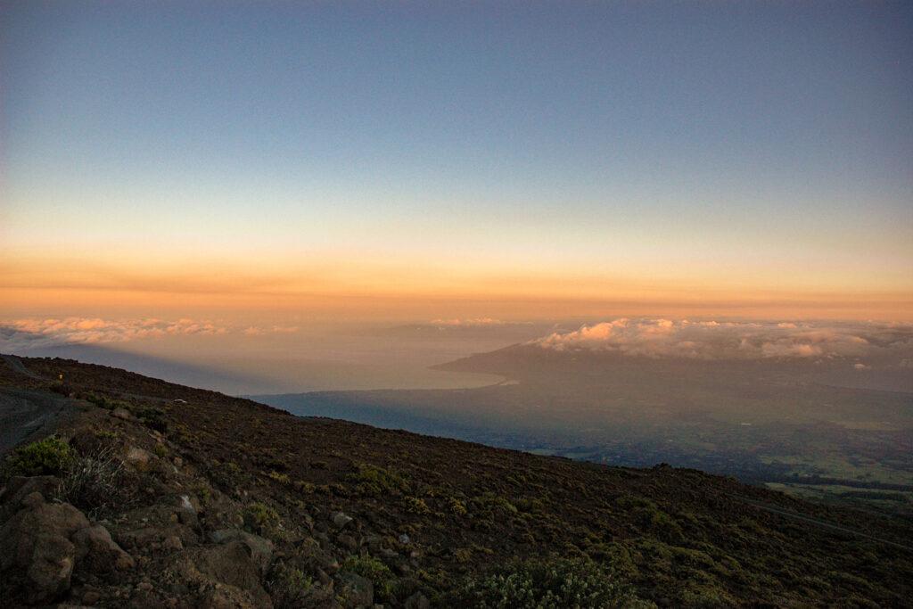 ハレアカラ山頂付近からの眺め