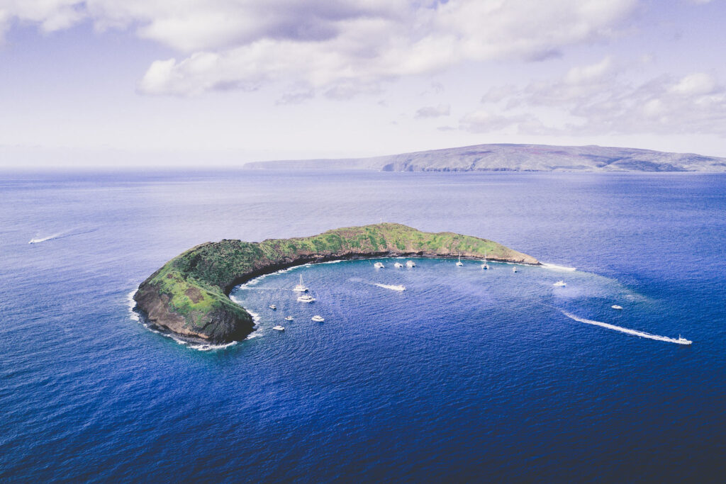 上空から見たモロキニ島